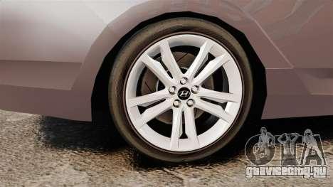 Hyundai i40 2013 Unmarked Police [ELS] для GTA 4 вид сзади