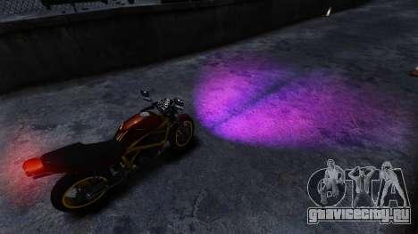 Фиолетовый свет фар для GTA 4 второй скриншот