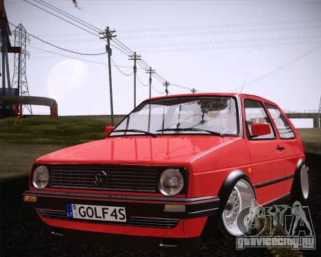 Volkswagen Golf Mk2 для GTA San Andreas вид справа
