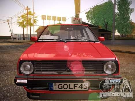 Volkswagen Golf Mk2 для GTA San Andreas вид сверху