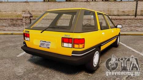 Renault 21 Nevada GTD для GTA 4 вид сзади слева