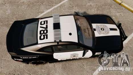 Chevrolet Camaro Police [ELS-EPM] для GTA 4 вид справа