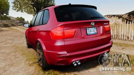 BMW X5M v2.0 для GTA 4 вид сзади слева