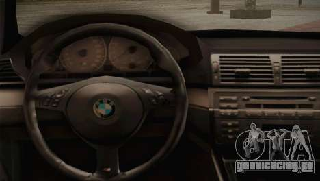 BMW M3 E46 Hellaflush для GTA San Andreas вид изнутри