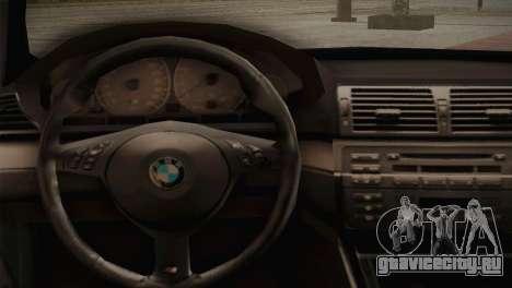 BMW M3 E46 Hellaflush для GTA San Andreas вид изнутри