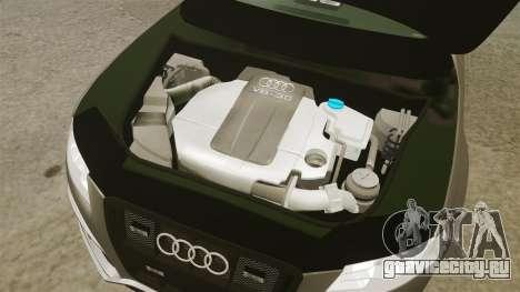 Audi S4 2013 Unmarked Police [ELS] для GTA 4 вид изнутри
