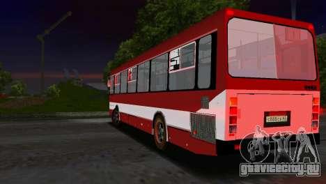ЛиАЗ-5256 для GTA Vice City вид изнутри