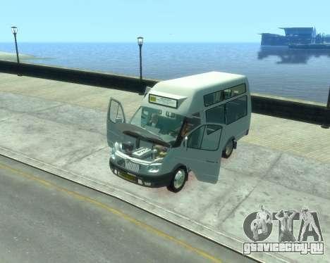 ГАЗель СПВ Рута-16 для GTA 4 вид сзади