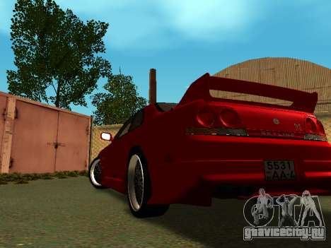 Nissan Skyline R33 GT-R V-Spec для GTA San Andreas вид слева