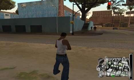 C-HuD Black White для GTA San Andreas второй скриншот