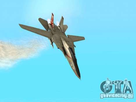 F-14 Tomcat HQ для GTA San Andreas вид сверху