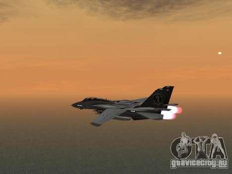F-14 Tomcat HQ для GTA San Andreas вид сзади