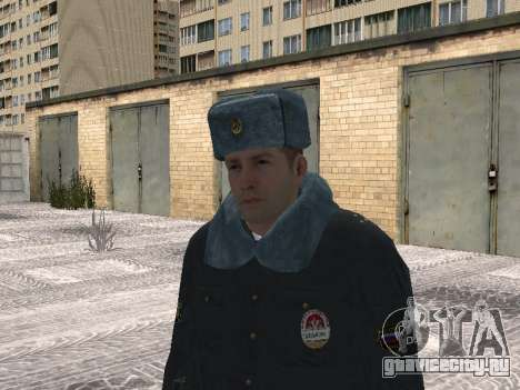 Пак милиционеров в зимней форме для GTA San Andreas пятый скриншот