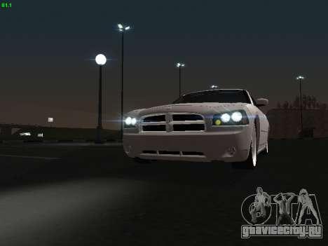Dodge Charger RT 2008 для GTA San Andreas вид сзади