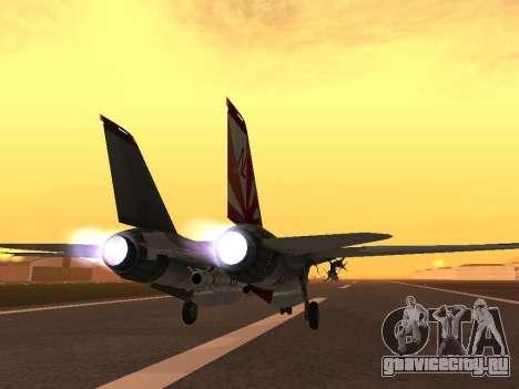 F-14 Tomcat HQ для GTA San Andreas вид сзади слева