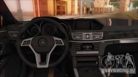 Mercedes-Benz E63 AMG 2014 для GTA San Andreas вид сверху