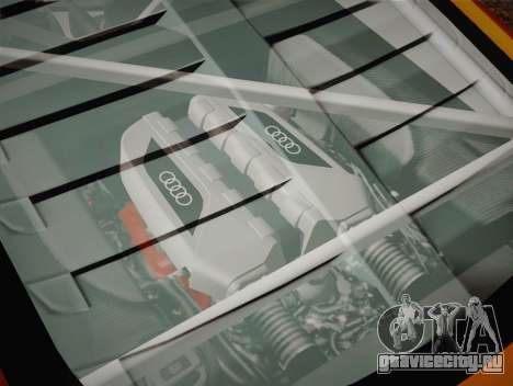 Audi R8 LMS v2.0.4 DR для GTA San Andreas вид снизу