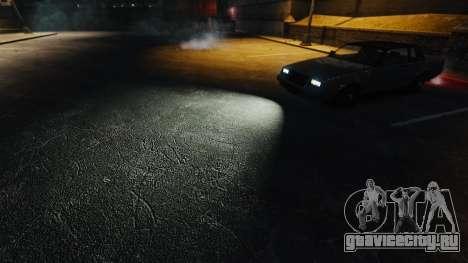 Экстремально белый свет фар для GTA 4