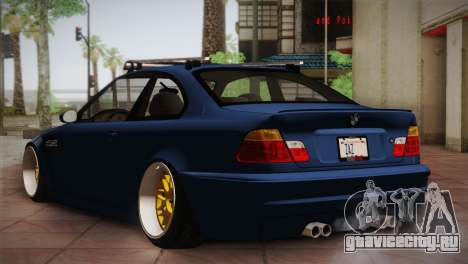 BMW M3 E46 Hellaflush для GTA San Andreas вид справа