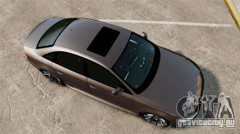 Audi S4 2013 Unmarked Police [ELS] для GTA 4 вид справа