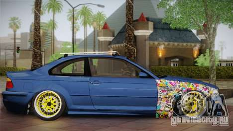 BMW M3 E46 Hellaflush для GTA San Andreas вид слева