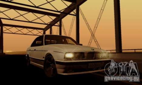 BMW 525 Re-Styling для GTA San Andreas вид сверху