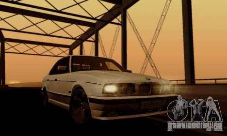 BMW 525 Re-Styling для GTA San Andreas вид сверху