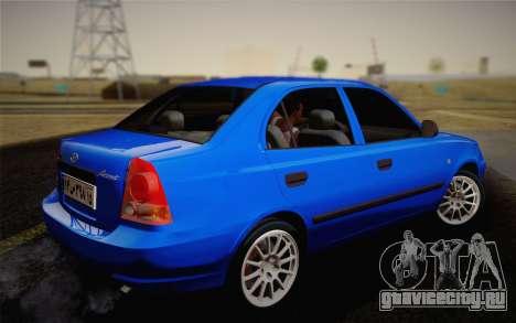 Hyundai Accent Admire 2004 для GTA San Andreas вид слева