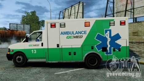 Brute GQ Med Ambulance [ELS] для GTA 4 вид слева