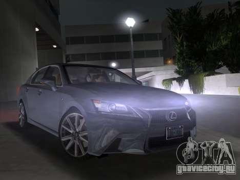 Lexus GS350 F Sport 2013 для GTA Vice City вид сзади