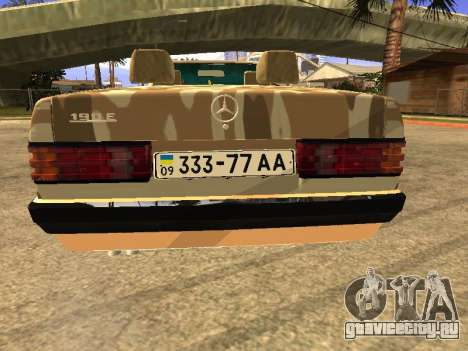 Mercedes-Benz 190E Army для GTA San Andreas вид слева