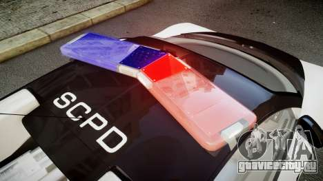 Bugatti Veyron 16.4 Police NFS Hot Pursuit для GTA 4 вид сзади