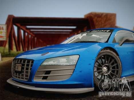 Audi R8 LMS v2.0.4 DR для GTA San Andreas вид сзади