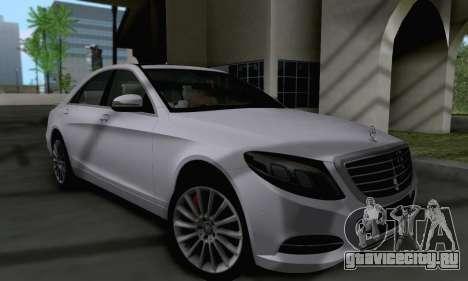 Mercedes-Benz W222 для GTA San Andreas вид слева