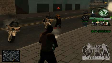 C-HUD Grove Street для GTA San Andreas третий скриншот