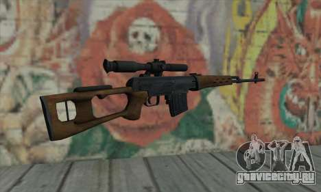 Dragunov Sniper Rifle для GTA San Andreas второй скриншот