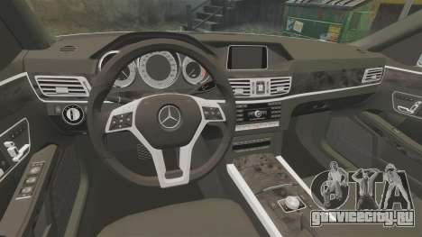 Mercedes-Benz E63 AMG 2014 v2.0 для GTA 4 вид изнутри