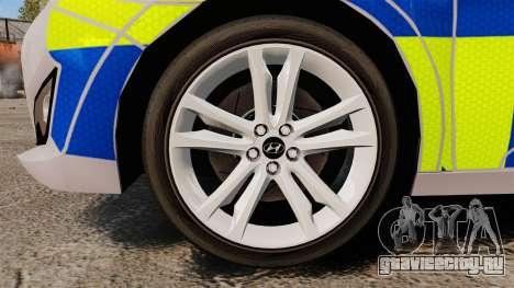 Hyundai i40 2013 Metropolitan Police [ELS] для GTA 4 вид сзади