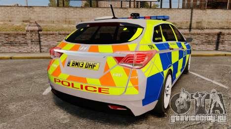 Hyundai i40 2013 Metropolitan Police [ELS] для GTA 4 вид сзади слева