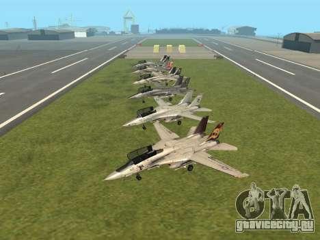 F-14 Tomcat HQ для GTA San Andreas вид слева