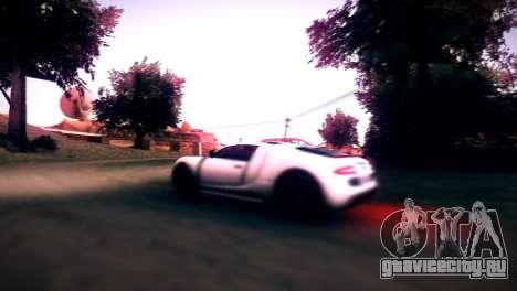 Adder из GTA V для GTA San Andreas вид сзади