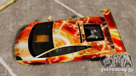Lamborghini Gallardo 2013 Red Light для GTA 4 вид справа