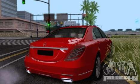 Mercedes-Benz W222 для GTA San Andreas вид изнутри