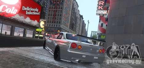 Nissan Skyline GTR-34 Nismo Z-Tune для GTA 4 вид сзади слева
