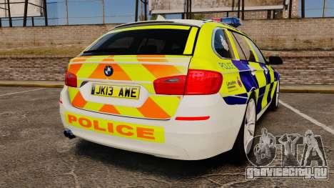 BMW 530d Touring Lancashire Police [ELS] для GTA 4 вид сзади слева