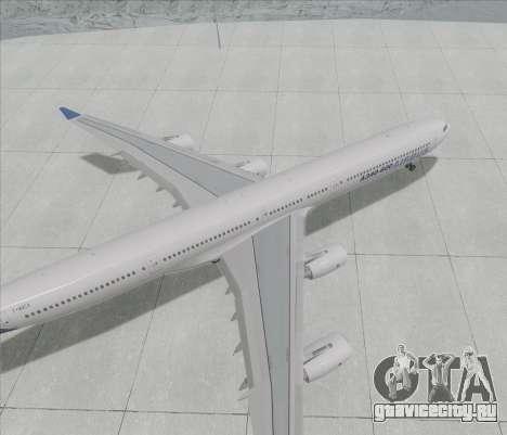 Airbus A340-600 для GTA San Andreas вид сзади слева