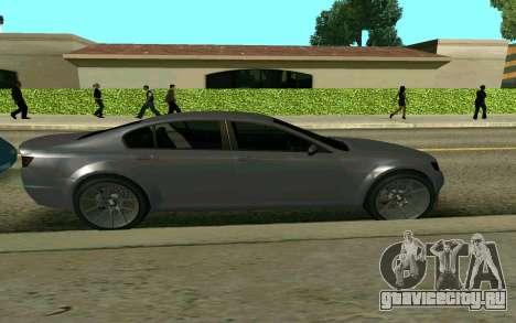 GTA V Fugitive для GTA San Andreas вид сзади слева