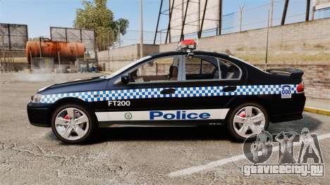 Ford BF Falcon XR6 Turbo Police [ELS] для GTA 4 вид слева