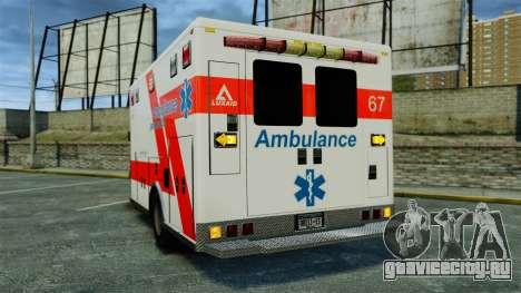 Brute Luxaid Ambulance [ELS] для GTA 4 вид сзади слева