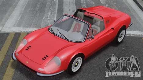 Ferrari Dino 246 GTS для GTA 4 вид изнутри